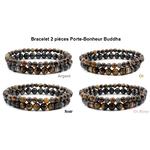 Bracelet 2 pièces Porte-Bonheur Buddha couleurs