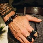 Bracelet Homme Couronne Oeil de Tigre