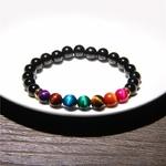 bracelet de perles, Reiki, Energie, Oeil de Tigre, pierres naturelles, guérison, soins par les pierres, lithothérapie, Litho Series, Yoga, Méditation, Prière, bijoux perles