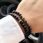 Bracelet Homme Perles en Pierres GoHappy