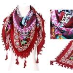 Foulard Karachi coton rouge gohappy2