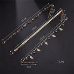 Bracelet de Cheville Feuilles dorées 1