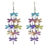 Boucles d'oreille Libellules multicolores