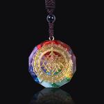 Pendentif Collier Orgonite Sri Yantra