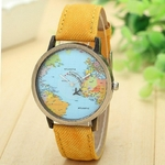 Montres Tour du Monde orange