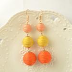 Boucles dOreille Lampions orange