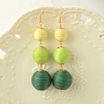 Boucles dOreille Lampions verts