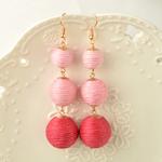 Boucles d'Oreille Lampions roses