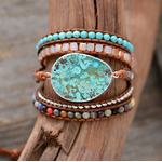 Bracelet 5 brins Unique en Pierres Naturelles Jaspe 1
