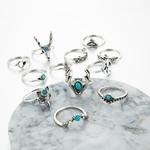 Tocona-boh-me-Vintage-argent-couleur-anneaux-ensembles-pour-femmes-hommes-creux-coeur-amour-anneau-Animal