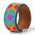 Bracelet cuir Mosaique Ethnique Turquoise2