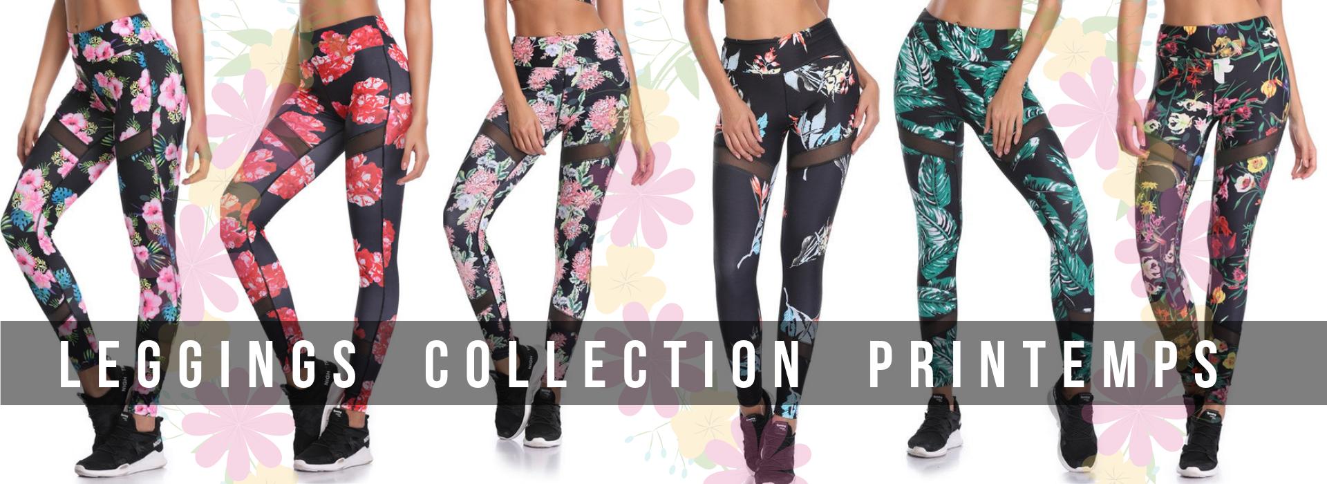 Leggings Collection Printemps 2019 Fleurs