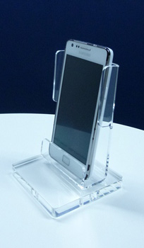 SUPPORT IPHONE / SMARTPHONE PLEXIGLAS SUR SOCLE