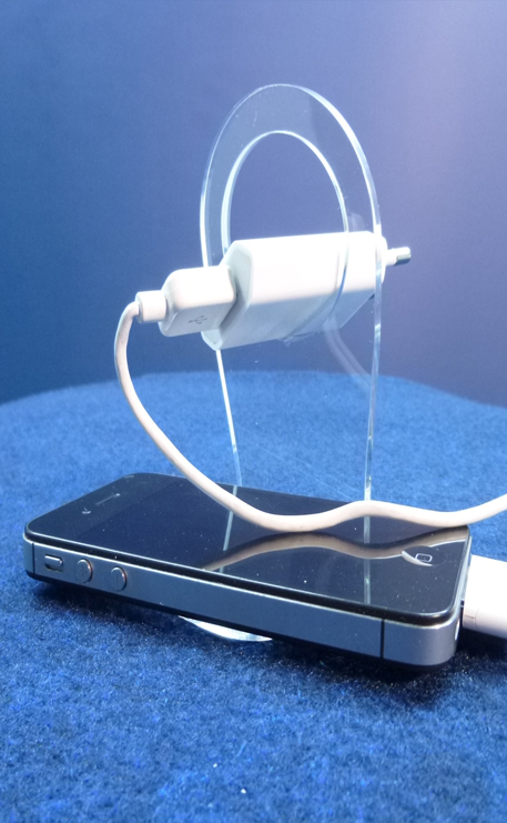 Support_iphone_charge_plexiglass_transparent_popup