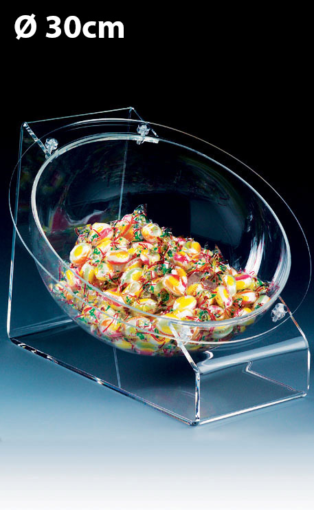 VASQUE BOULE 30CM PLEXIGLAS SUR TABLE