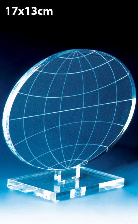 TROPHÉE PLEXIGLAS GLOBE 15CM