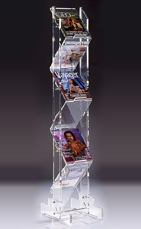 Pr sentoir plexiglass zz a4 vertical x7 for Forme in plexiglass