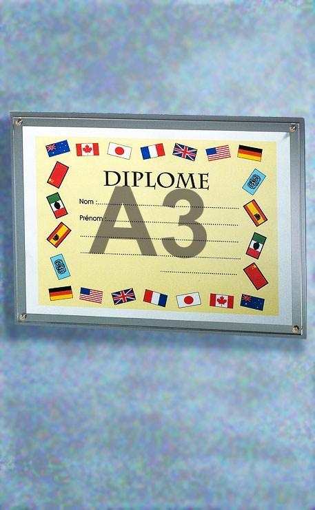 PORTE-DIPLÔME PLEXIGLAS FORMAT A3