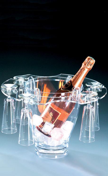 Seau plexiglas tulipe hotellerie restauration - Porte seau a champagne ...