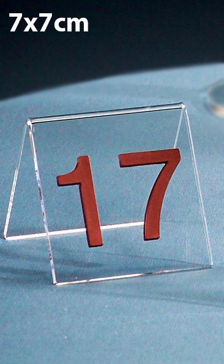 CHEVALET PLEXIGLAS NUMÉRO DE TABLE 7X7CM