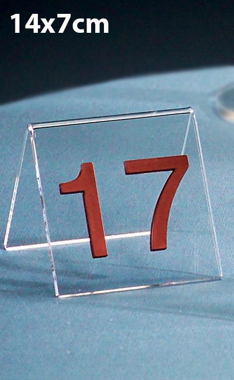 CHEVALET PLEXIGLAS NUMÉRO DE TABLE 14X7CM