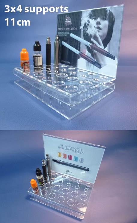 PLV PLEXIGLASS CIGARETTE ÉLECTRONIQUE - 11CM