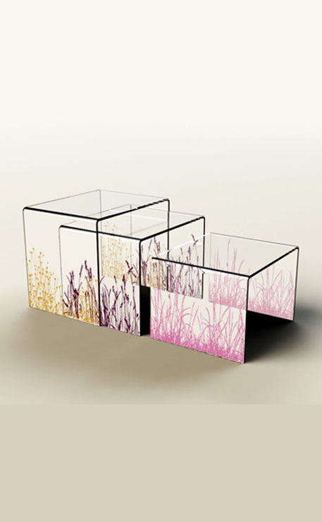 TABLE BASSE PLEXIGLASS GIGOGNE NATURE