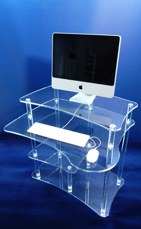 TABLE PLEXIGLASS INFORMATIQUE GM