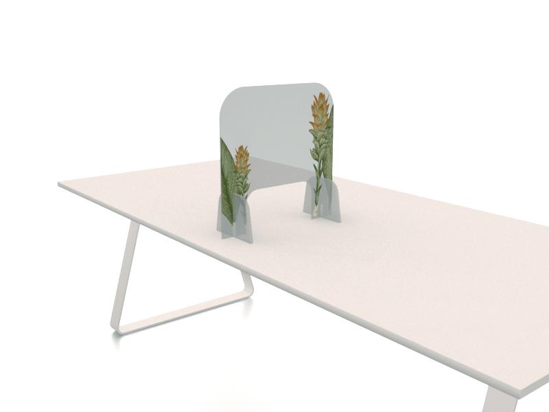 séparateur sur table imprimé