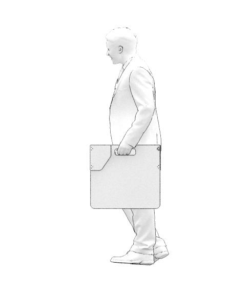 Separateur_portable_Plié BLANC