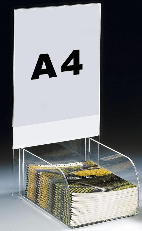 PRÉSENTOIR PLEXIGLAS PORTOIR A4  AVEC AFFICHE A4