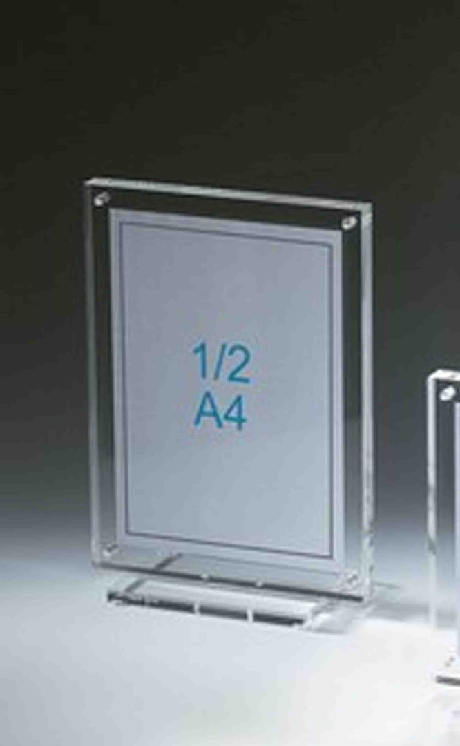 Support plexiglass cadre photo sur socle pour photo format 15 x 20 cm.