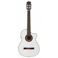 GUITARE MARTINEZ MC48S CE WHITE