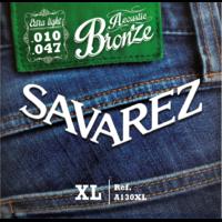 JEU DE CORDES SAVAREZ EX LIGHT BRONZE 10/47 POUR GUITARE ACOUSTIQUE ( FOLK )