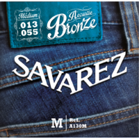 ( X10 ) JEUX DE CORDES SAVAREZ BRONZE MEDIUM 13/55 POUR GUITARE ACOUSTIQUE ( FOLK )