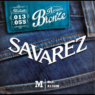 ( X3 )JEUX DE CORDES SAVAREZ BRONZE MEDIUM 13/55 POUR GUITARE ACOUSTIQUE ( FOLK )