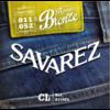 JEU DE CORDES SAVAREZ BRONZE  CUSTOM LIGHT BRONZE 11/52 POUR GUITARE ACOUSTIQUE ( FOLK )