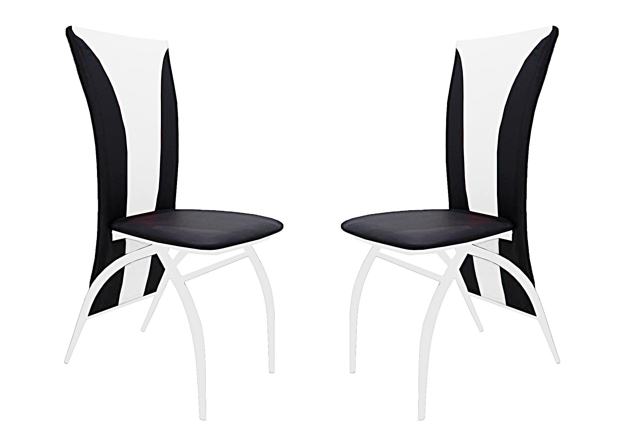 Lot 6 chaises chromé simili blanc IVO