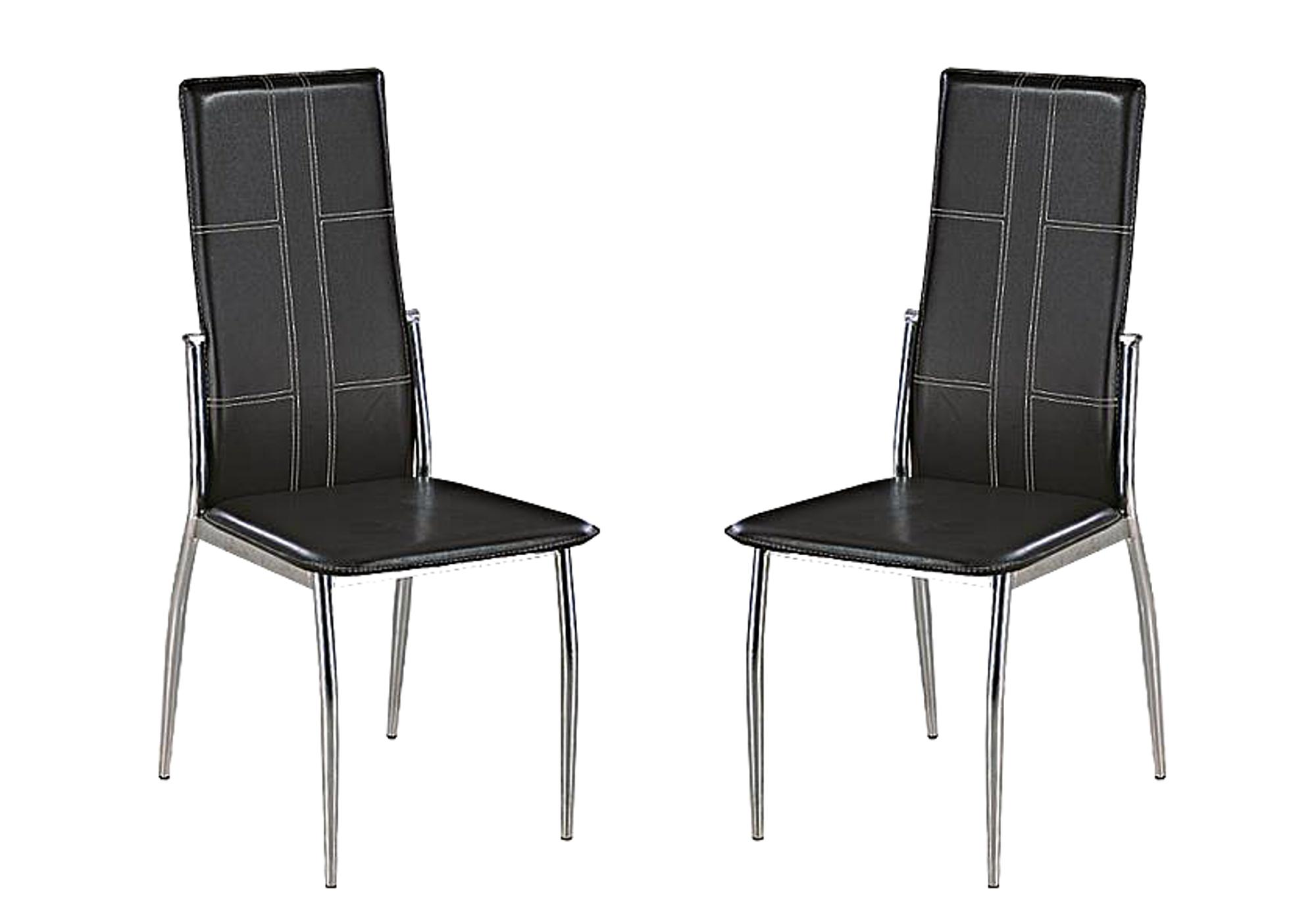 Lot 6 chaises design noir TEVA