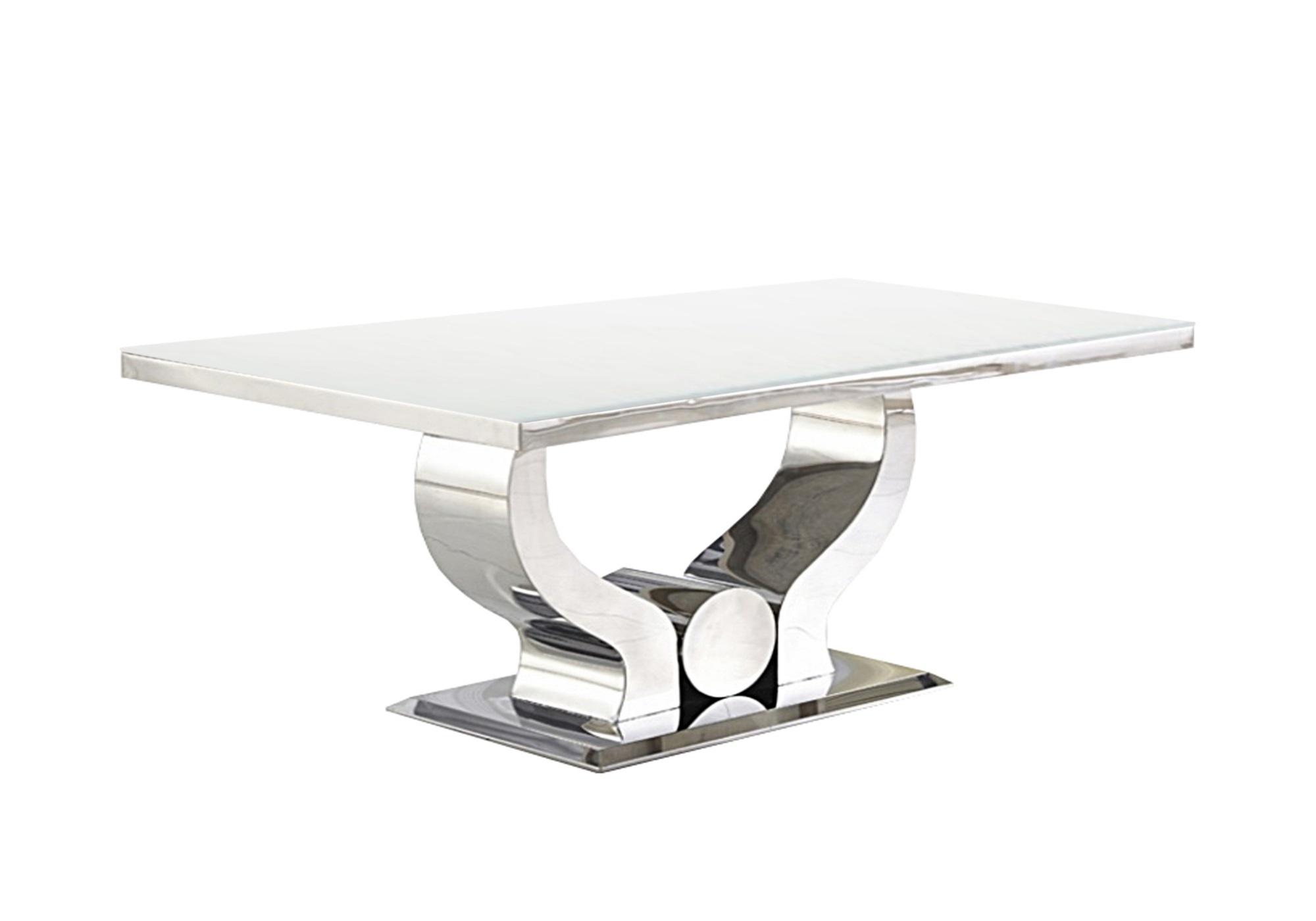 Table basse design chromé blanc NEA
