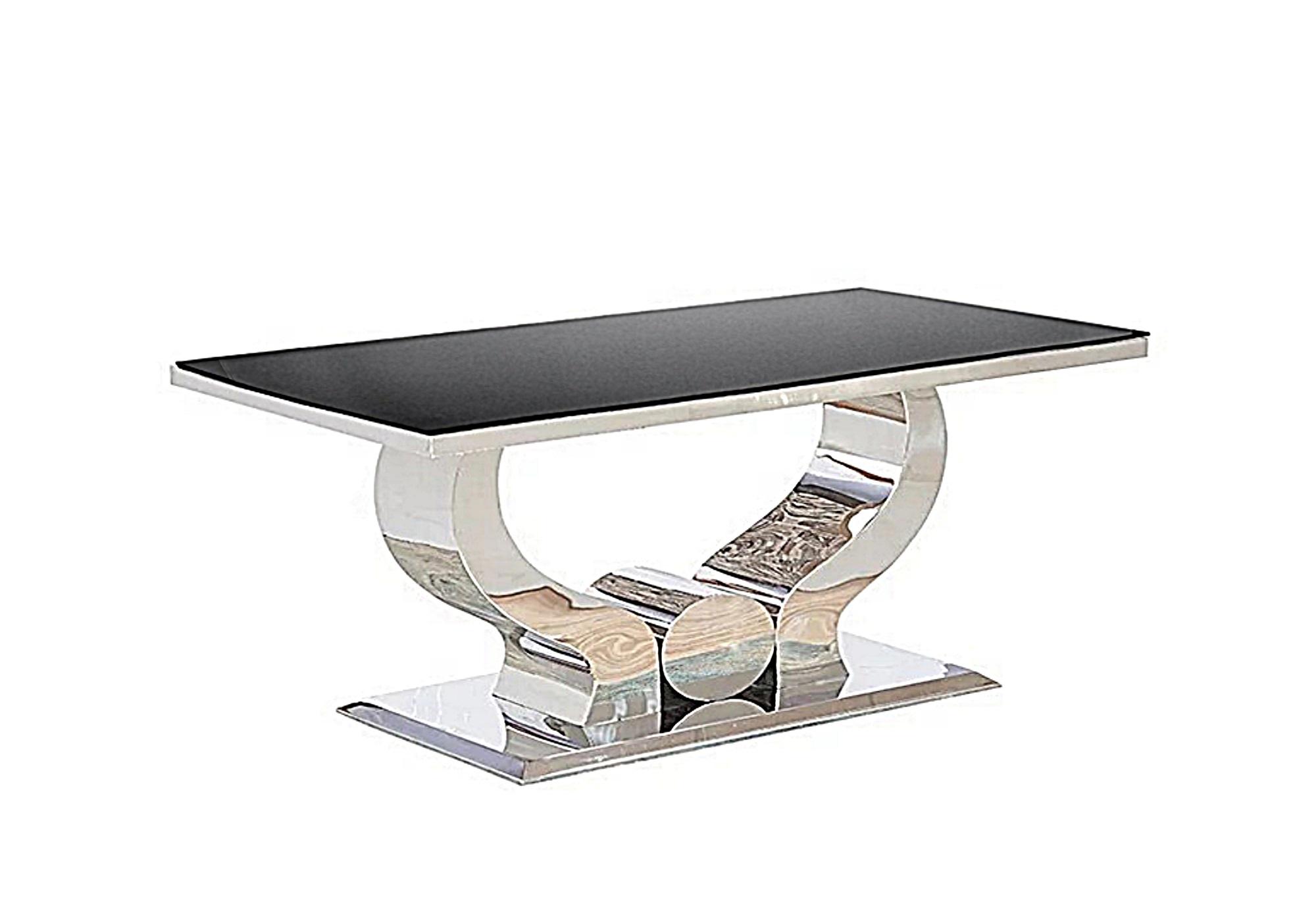 Table basse design chromé noir NEA
