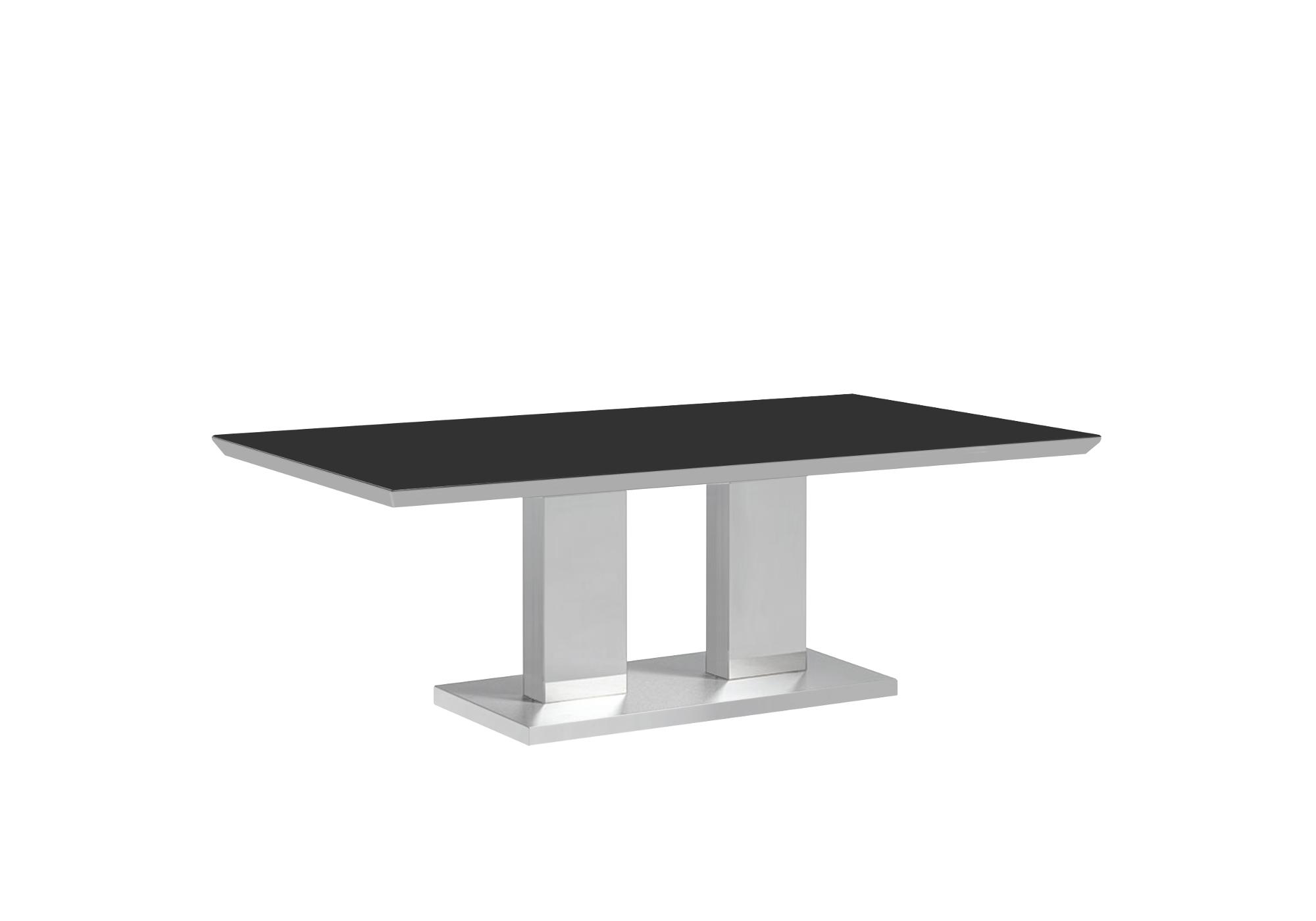 Table basse inox verre trempé IZA