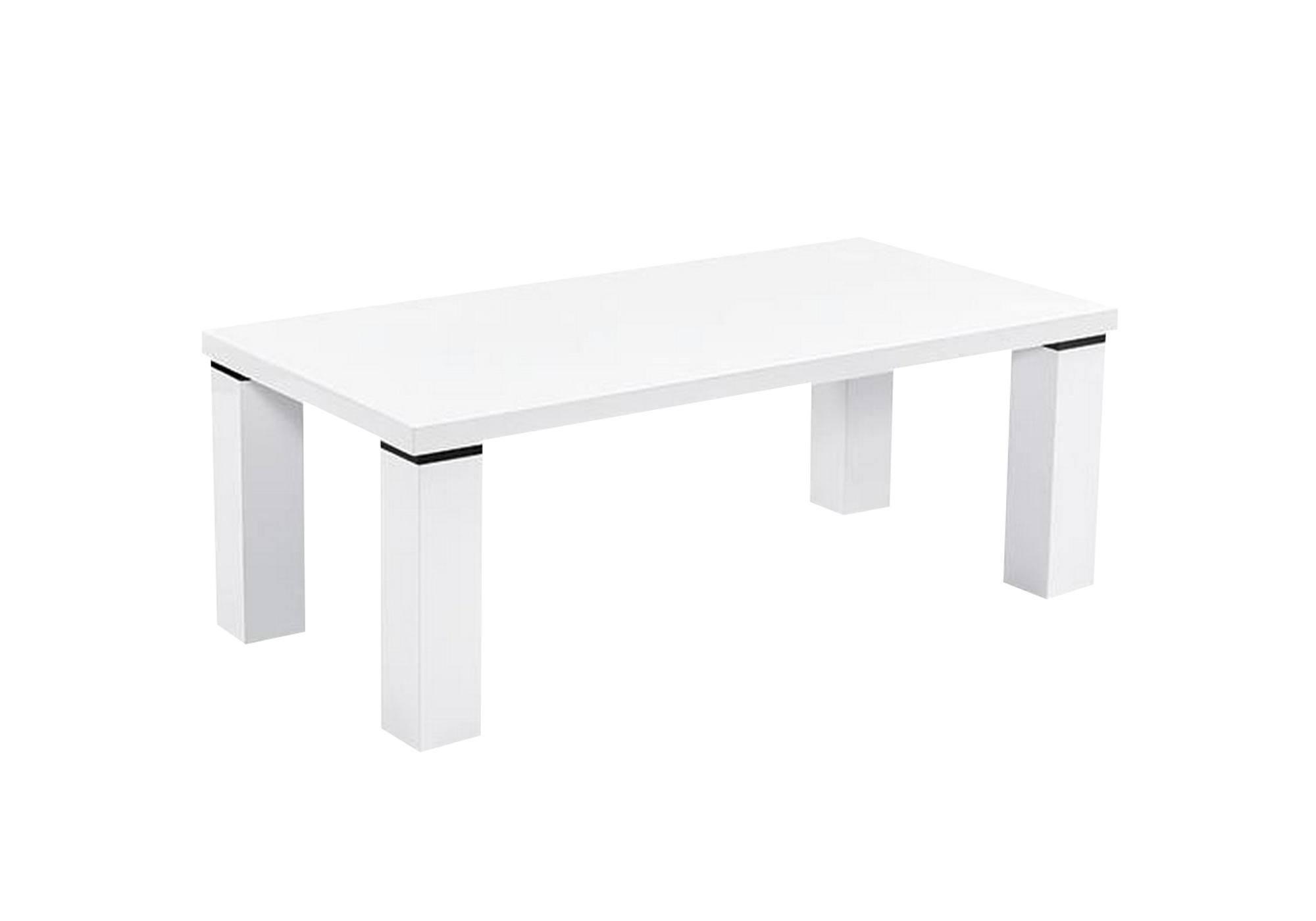 Table basse laqué blanc UGO