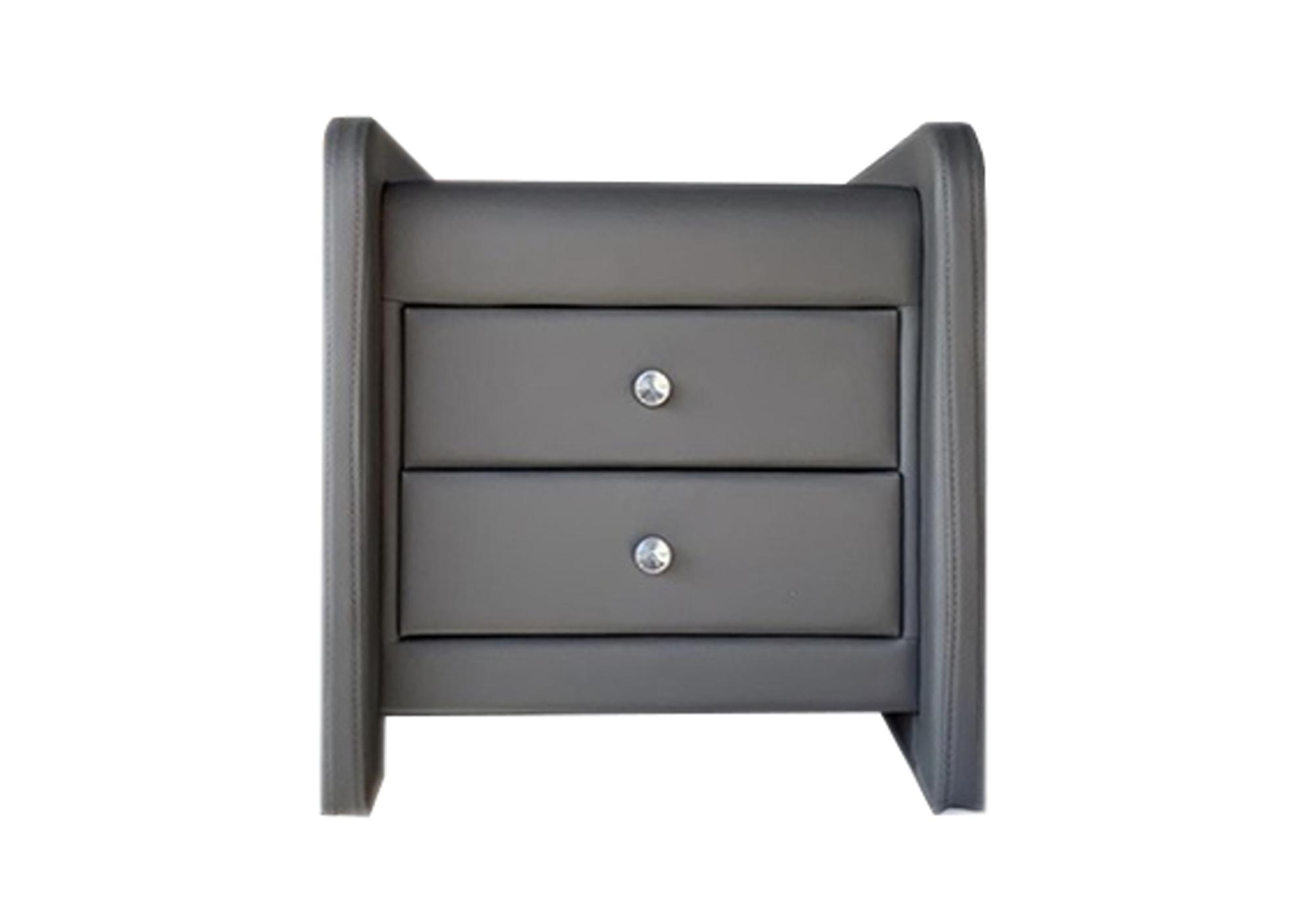 Table chevet design simili gris SOFT