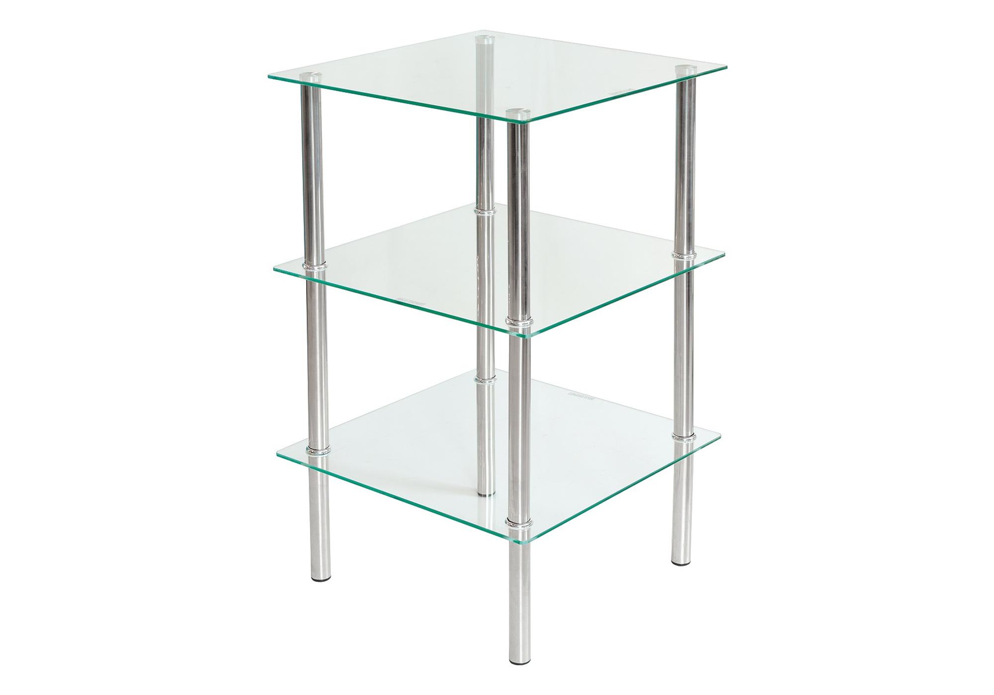 Table d\'appoint carré verre trempé HILO I