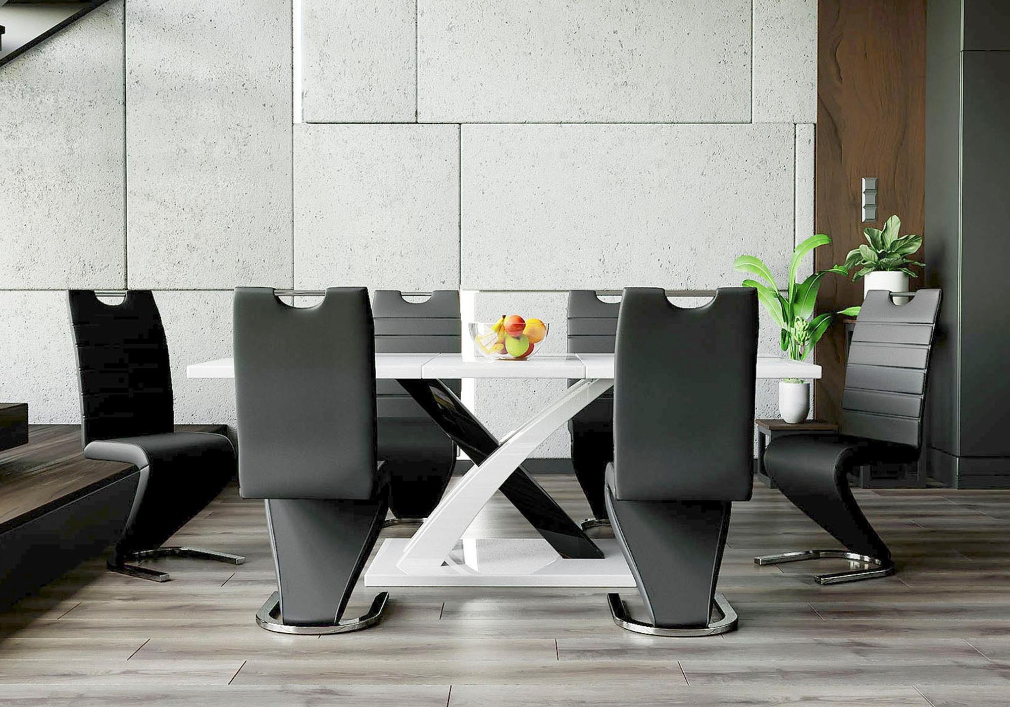Table design extensible 6 chaises EOL