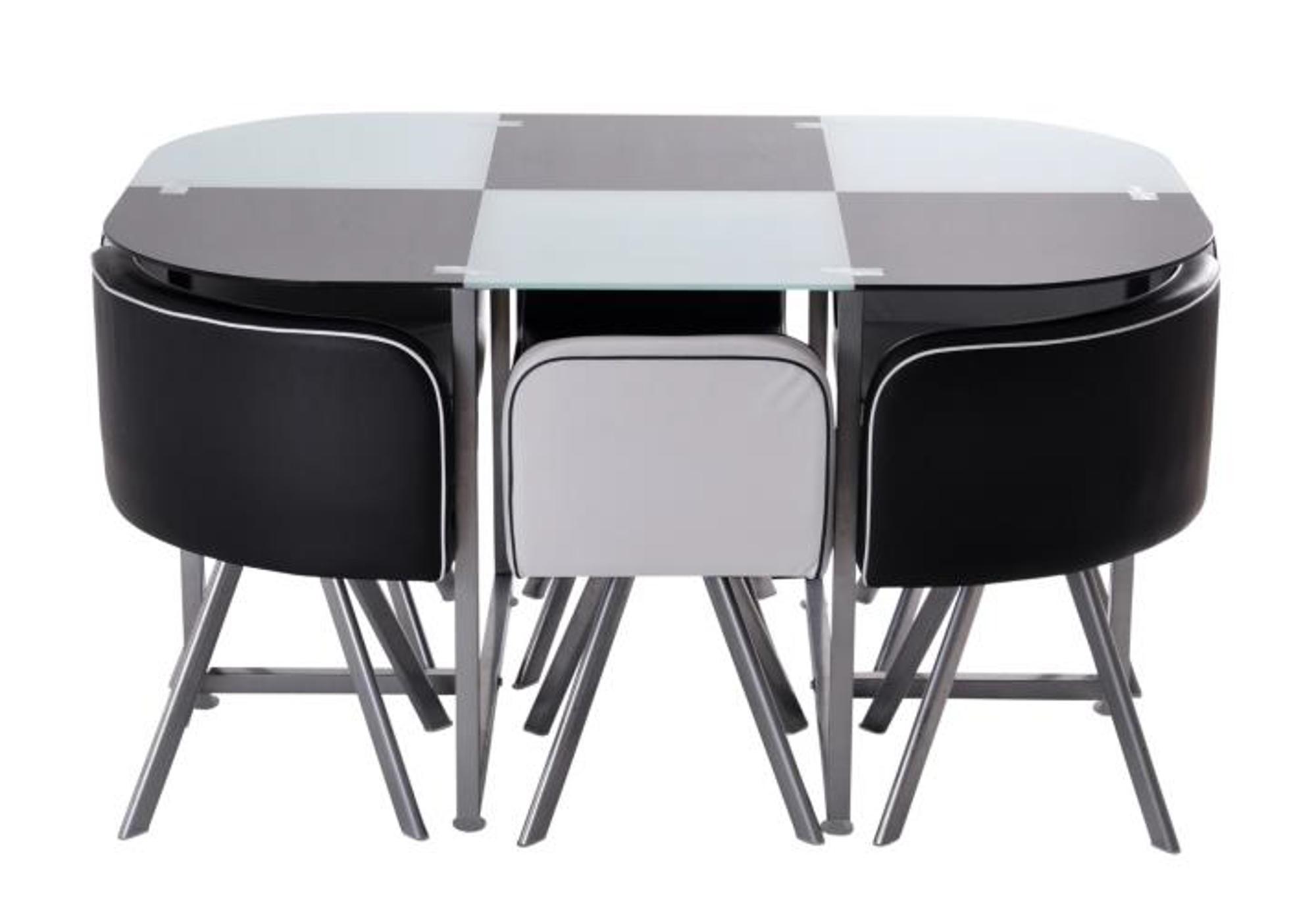 Table manger 6 chaises noir SPACE