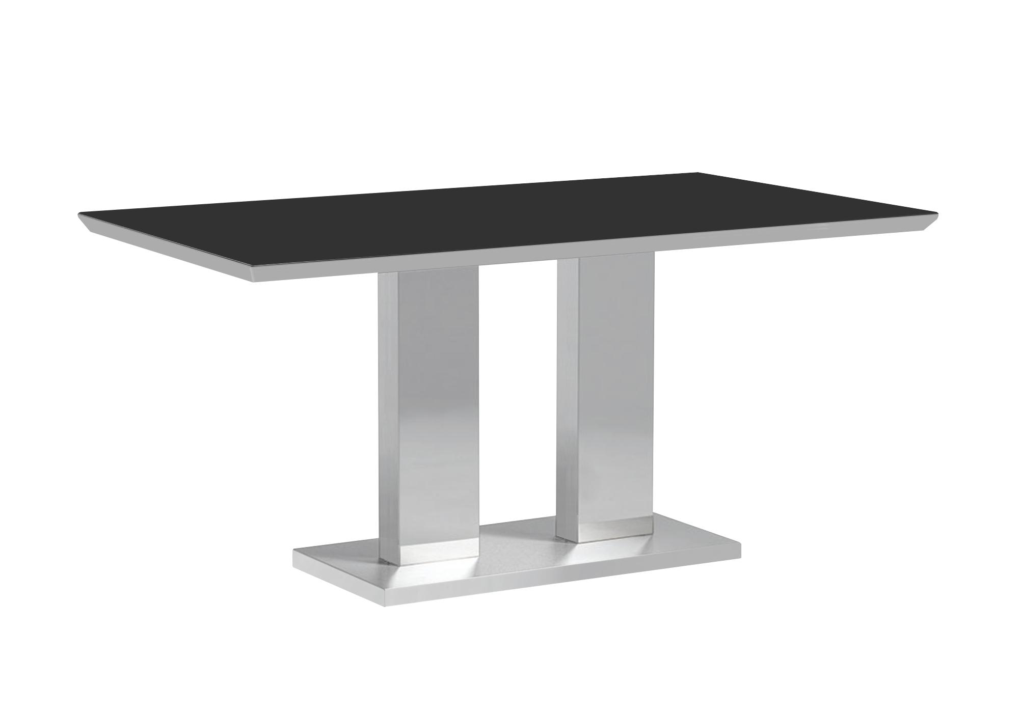 Table manger inox verre trempé IZA