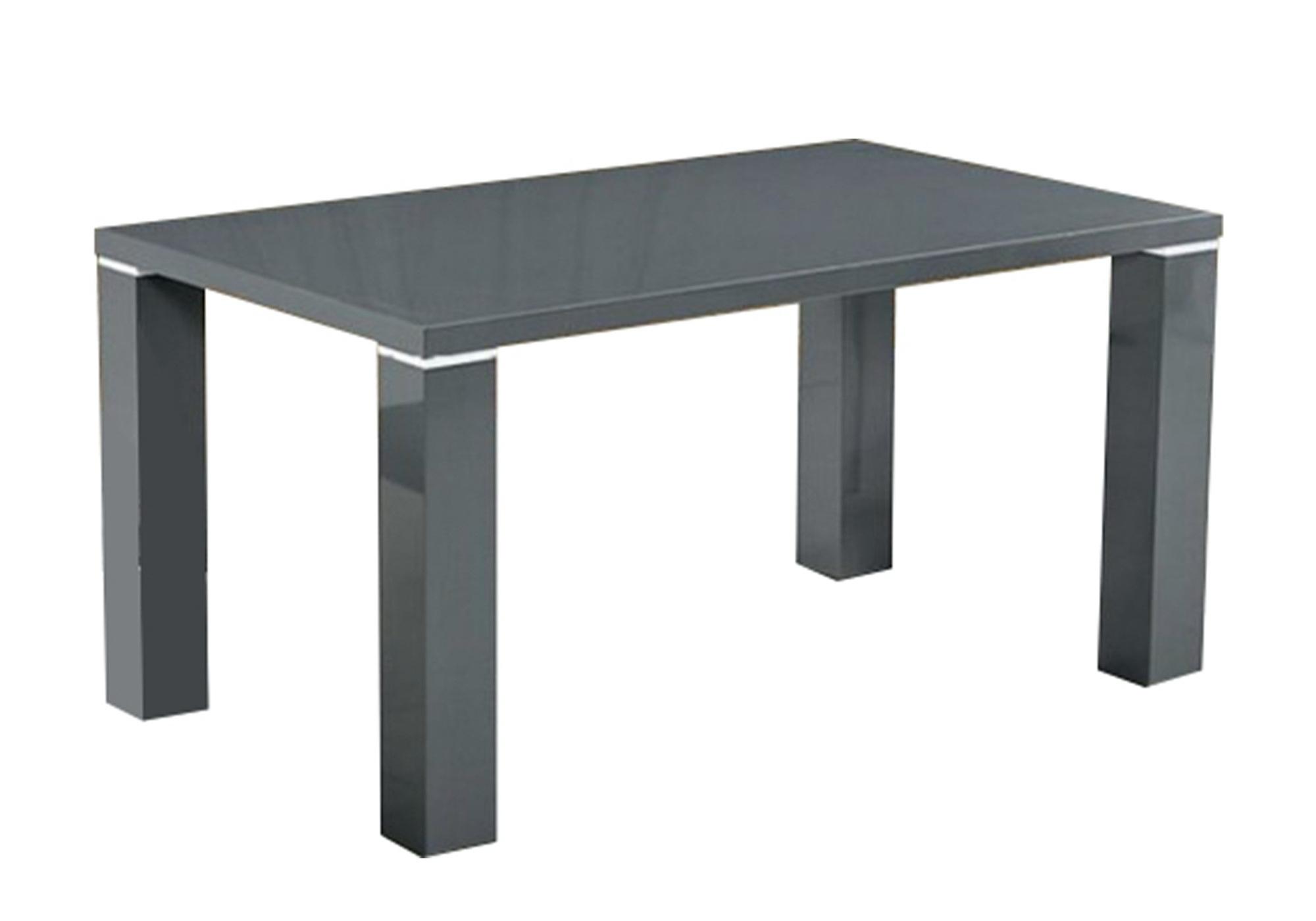 Table manger laqué gris UGO