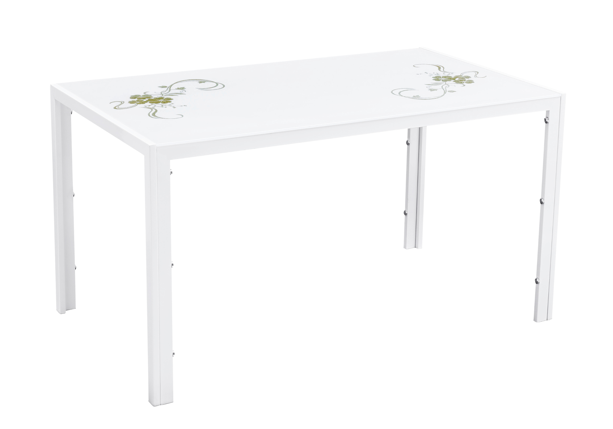 Table manger verre trempé blanc OLYA